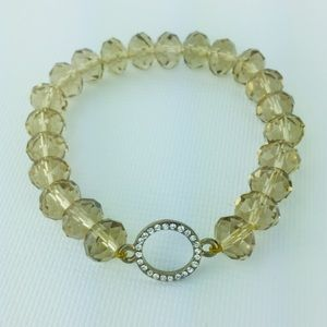 Jewelry - Multi Faceted Glass Beaded Blingy Stretch Bracelet